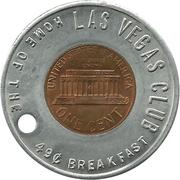 Encased Token - Las Vegas Club – reverse