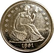 ½ Dollar - Confederate States of America – reverse
