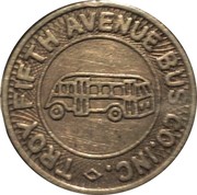 1 Fare - Troy Fifth Avenue Bus Co. (Troy, New York) – obverse
