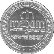 1 Dollar Gaming Token - Maxim Casino (Las Vegas) – obverse