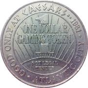 1 Dollar Gaming Token - Caesars Palace Casino (Atlantic City) – reverse