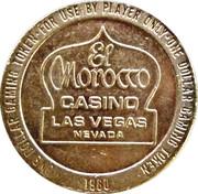 1 Dollar Gaming Token - El Morocco Casino (Las Vegas) – obverse