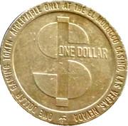 1 Dollar Gaming Token - El Morocco Casino (Las Vegas) – reverse
