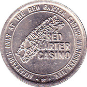 1 Dollar Gaming Token - Red Garter Casino (Wendover, Nevada) – obverse