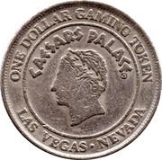1 Dollar Gaming Token - Caesars Palace (Las Vegas) – obverse