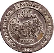 1 Dollar Gaming Token - Caesars Palace (Las Vegas) – reverse