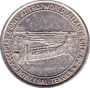 1 Dollar Gaming Token - Tropworld Casino (Atlantic City, N.J.) – reverse