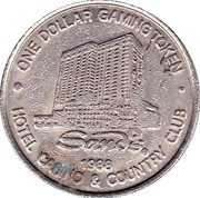 1 Dollar Gaming Token - Sands Casino (Atlantic City) – obverse