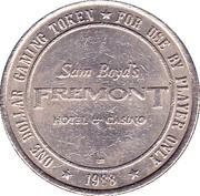 1 Dollar Gaming Token - Freemont Casino (Las Vegas) – reverse