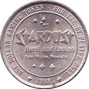 1 Dollar Gaming Token - Stardust Casino (Las Vegas) – reverse