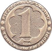 1 Dollar Gaming Token - Fitzgerald's Casino (Tunica, Mississippi) – reverse