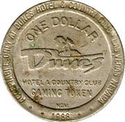 1 Dollar Gaming Token - Dunes Hotel & Country Club (Las Vegas) – obverse