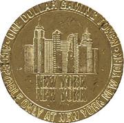 1 Dollar Gaming Token - New York New York Casino (Las Vegas) – reverse