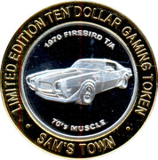 10 Dollar Gaming Token - Sam's Town Casino (Las Vegas) – reverse