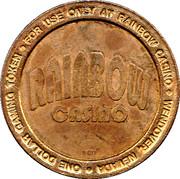 1 Dollar Gaming Token - Rainbow Casino (Wendover, Nevada) – obverse