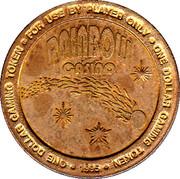1 Dollar Gaming Token - Rainbow Casino (Wendover, Nevada) – reverse