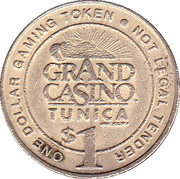 1 Dollar Gaming Token - Grand Casino (Tunica) – obverse