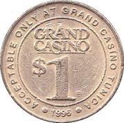 1 Dollar Gaming Token - Grand Casino (Tunica) – reverse