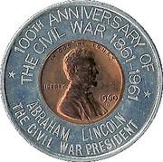 Encased Token - 100th Anniversary of the Civil War – obverse