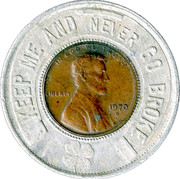 Encased Token - Keep Me and Never Go Broke (Ohio Military Federal Credit Union) – obverse