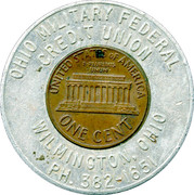 Encased Token - Keep Me and Never Go Broke (Ohio Military Federal Credit Union) – reverse
