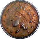 1 Cent  (C.D. Horter's Indian Princess) – obverse