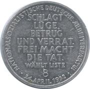 Token - Nationalsozialistische Deutsche Arbeiterpartei – reverse