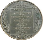 Tercentenary of the settlement of Albany, NY – reverse