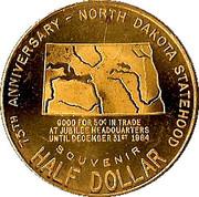½ Dollar - North Dakota Diamond Jubilee – reverse