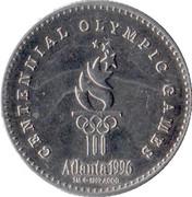 Coca-Cola Atlanta 1996 token – reverse
