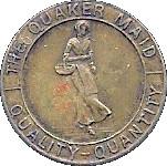 ½ Cent - The Quaker Maid – obverse