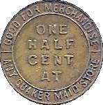 ½ Cent - The Quaker Maid – reverse