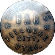 Token - Gaisford's Bar – obverse