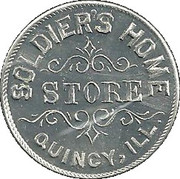 50 Cents - Soldier's Home Store Quincy, ILL. – obverse