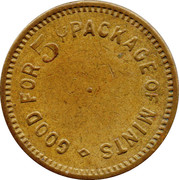 5 Cents  -No. 20 – obverse