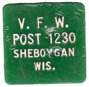 15 Cents - VFW Post – obverse
