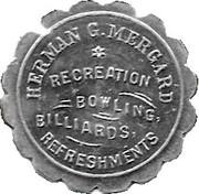 5 Cents - Herman Mergard Bowling – obverse