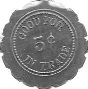 5 Cents - Herman Mergard Bowling – reverse