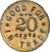 20 Cents - The Club token – reverse