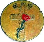 Token - Disabled American Veterans World War (Red cross) – reverse