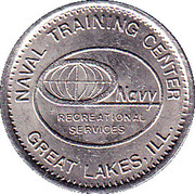 Token - Naval Training Center Recreational – obverse