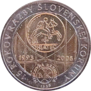Kremnica Mint Token - Slovak Crown Currency – obverse
