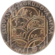 Kremnica Mint Token - Slovak Crown Currency – reverse