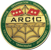 Army Capabilities Integration Center – obverse