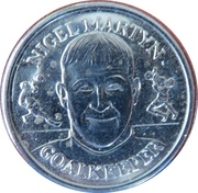 Token - Sainsbury's Official England Squad 1998 (Nigel Martyn) – obverse