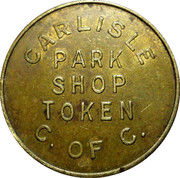 Parking Token - Carlisle Park Shop – obverse