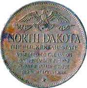Token - Shell's States of the Union Coin Game, Version 1 - Bronze Collector's Coin Set (North Dakota) – reverse