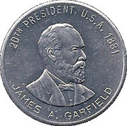 Token - James A. Garfield – obverse