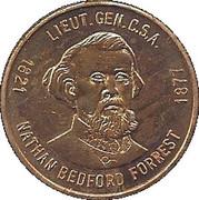 Token - Lt. Gen. Nathan Bedford Forrest – obverse