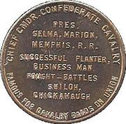 Token - Lt. Gen. Nathan Bedford Forrest – reverse